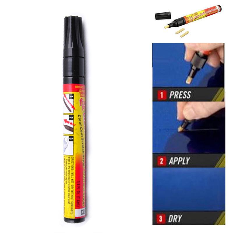 1X Car Vehicle Fix It Pro Scratch Repair Remover Pen Clear Coat Applicator Tool