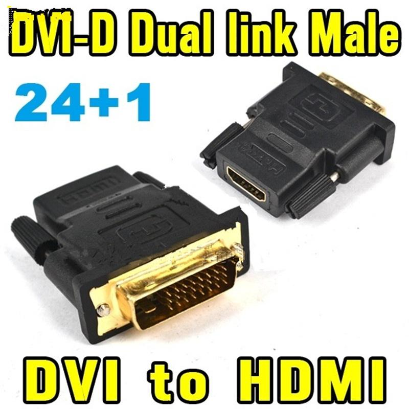 DVI-D Dual Link Male to HDMI Female Adapter Converter Connector 1080p 4K Full HD 24+1pin
