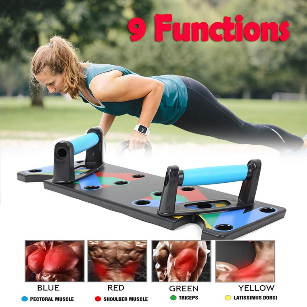 Board Push Up Rack Training Fitness 9in1 Exercise Muscle Gym Home Body System
