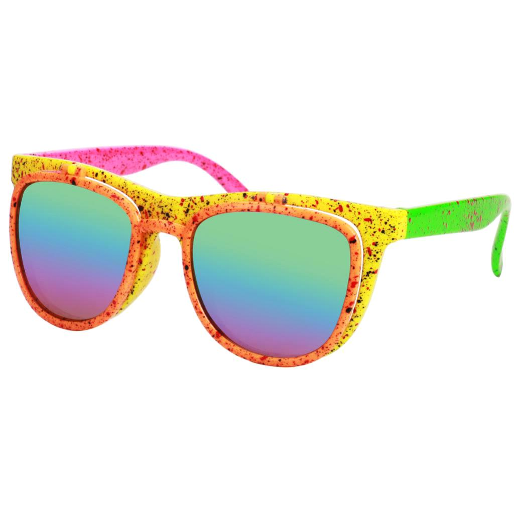 Fancy Dress Costume Yellow 80/'s style sunglasses UV400