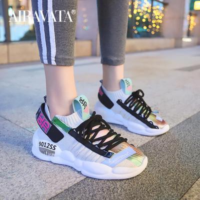 Women Flat Platform Air Cushion Sneakers Ladies Spring Casual Mesh Breathable Shoes Ladies Outdoor Athletic Running Footwear