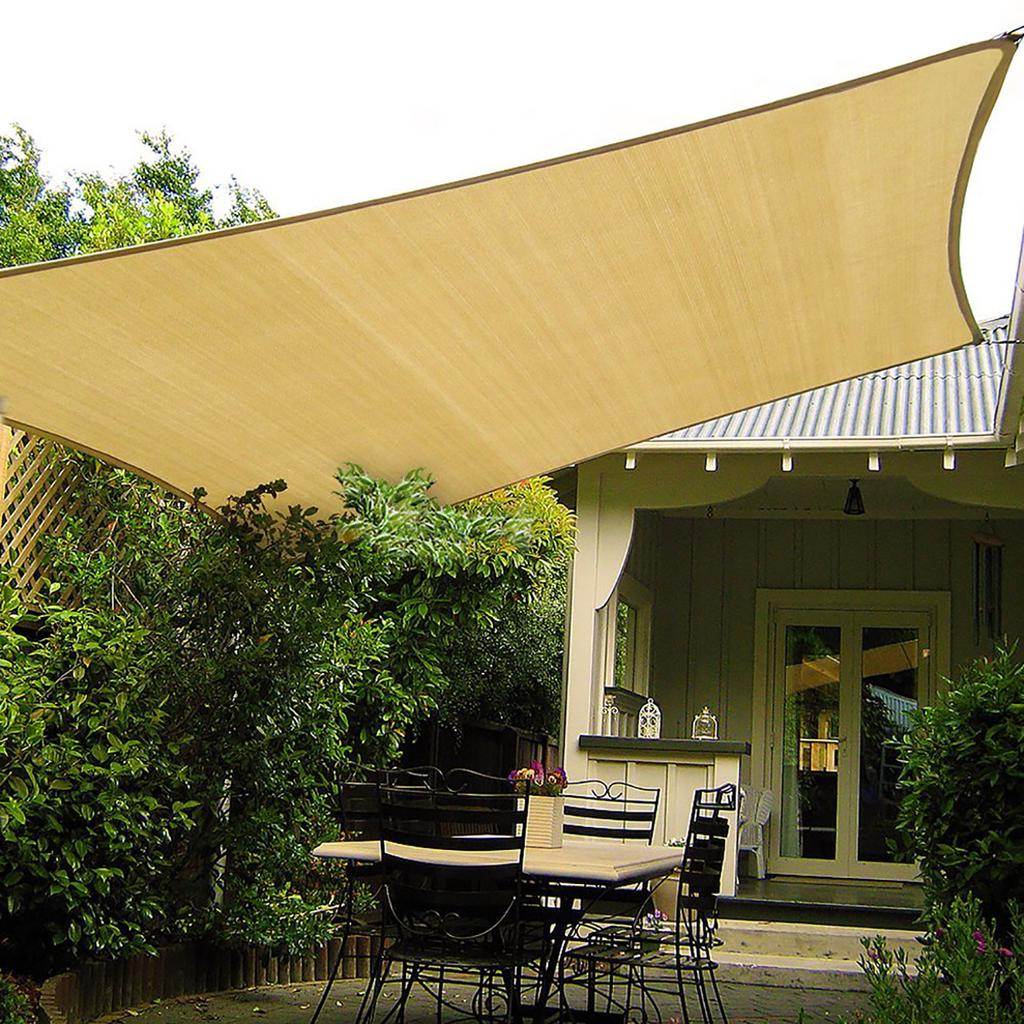 Garden HDPE Sun Shade Sail Shelter Carports Cover Awning Canopy Protector Net
