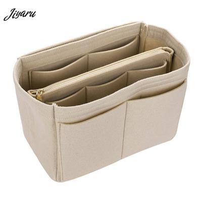 58b20011f1a07 Kızlar tuvalet çanta bayanlar Organizatör kadınlar keçe kumaş Ekle  durumlarda kadın makyaj çantaları Seyahat