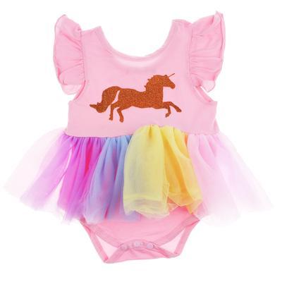 2bf07598a Infantil Baby chicas unicornio de Dama de honor concurso fiesta tul ...