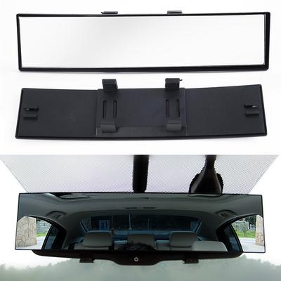 Universal Tri-fold Adjustable Angle HD Car Rearview Rear View Wide Angle Curved Mirror with Card Slot for Cars Vehicle Truck Accessories