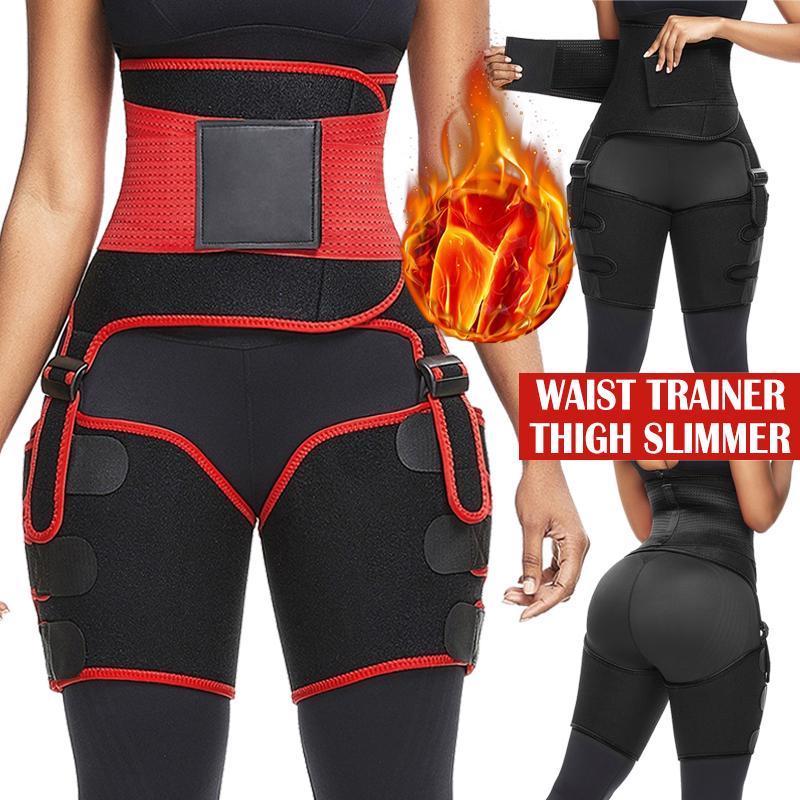 Women/'s Gym Leg Trimmer Thigh Slimmer Leg Triainer Belt Waist Trainer Shapewear