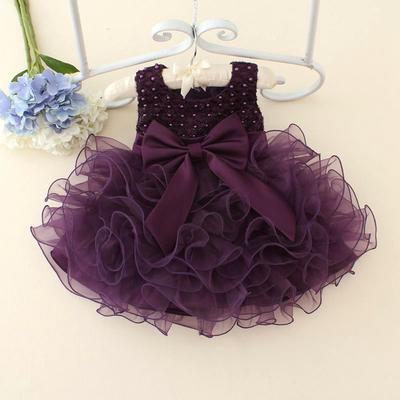 Flower Girl Baby Toddler Party Princess Wedding Birthday Tutu Dress Kids Clothes
