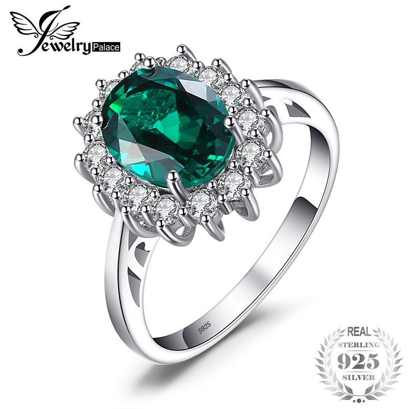 4690bb559e0f Jewelrypalace princesa Diana creó rusa Nano Esmeralda anillo de ...