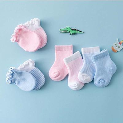 4 Pairs Children Kids Baby Newborn Socks Gloves Anti-scratch Breathable Elastici