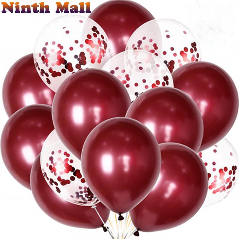 10pcs/lot Confetti Balloon 12inch Latex Child Birthday Party Украшения Свадебный Баллон