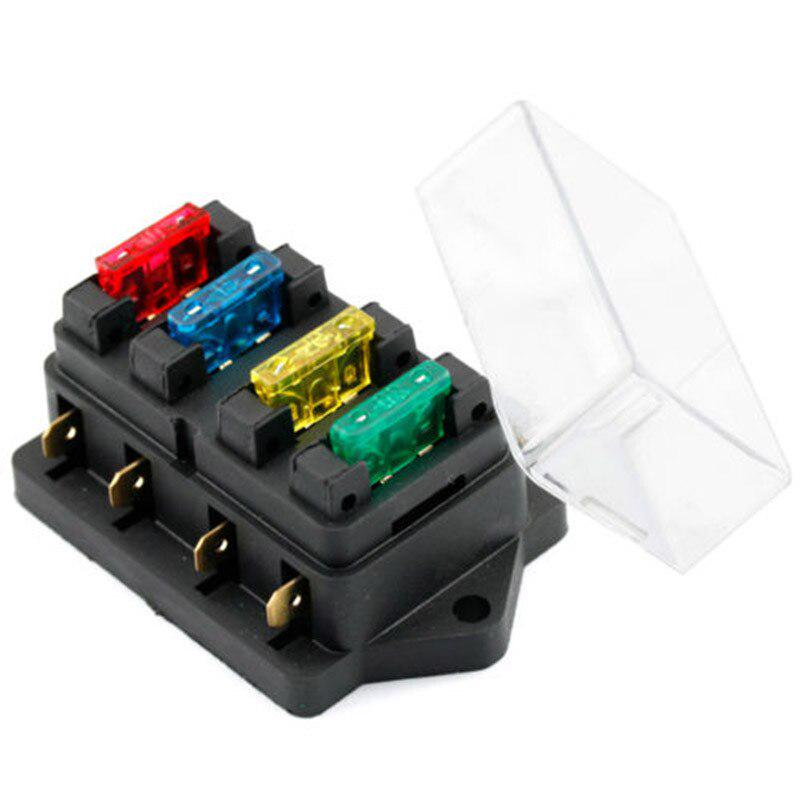 buy 4 way fuse box dc 12v 24v max dc 30v car truck auto blade fuse box  holder brand new at affordable prices — free shipping, real reviews with  photos — joom  joom