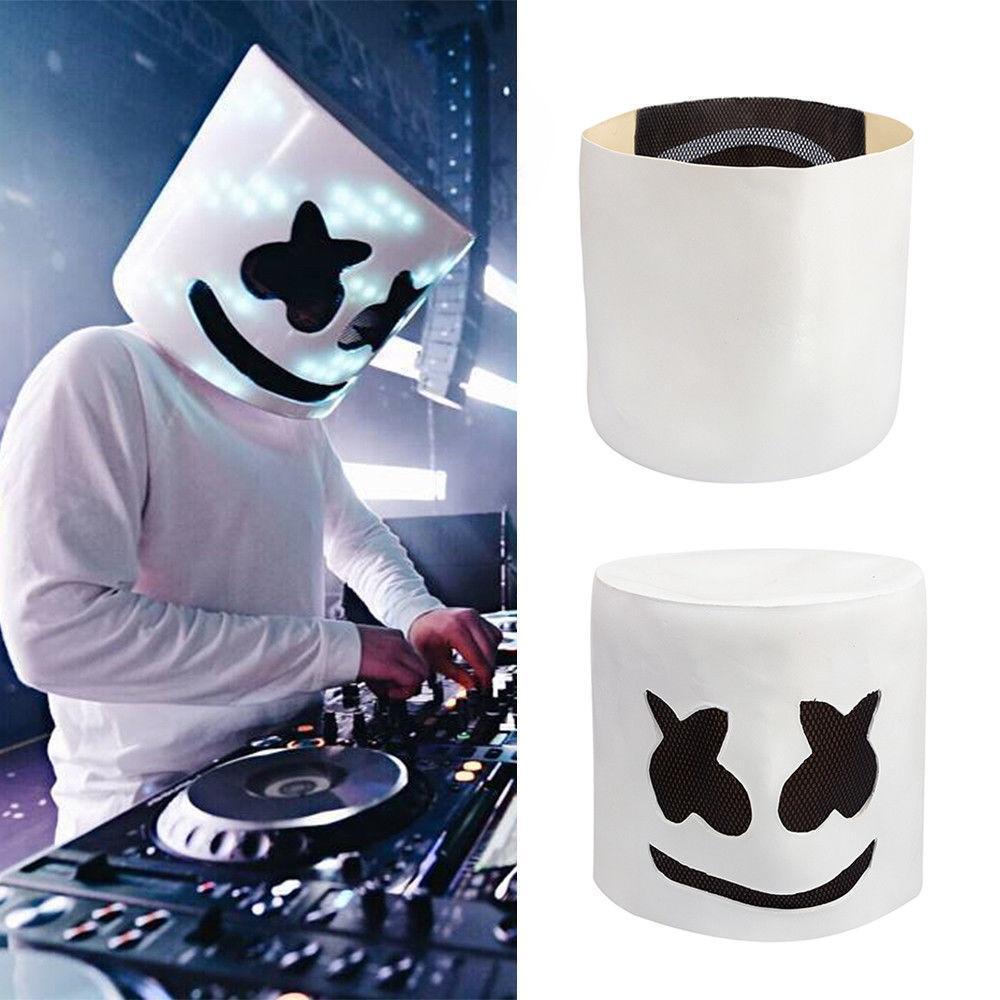 MarshMello DJ Mask Full Head Helmet Halloween Bar Cosplay Mask Music Marshmallow