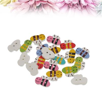 100x Natural Wood Buttons Butterfly Shape 2-Hole Sewing Scrapbook DIY Crafts