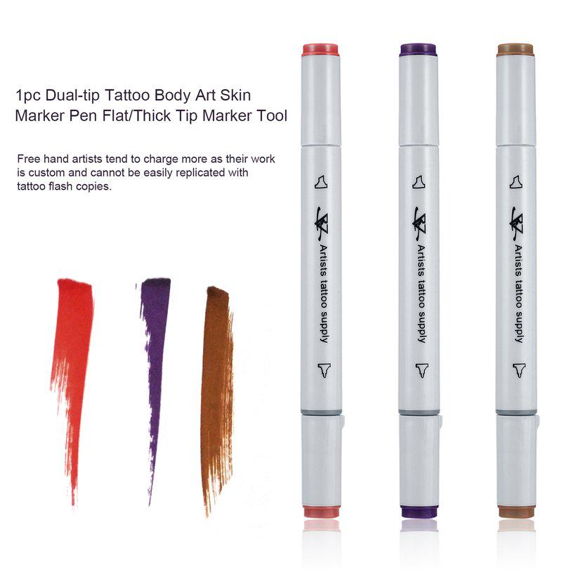 Acehe 1pc Dual Tip Tattoo Body Art Skin Marker Pen Flat Thick Tip Tool Aen Buy At A Low Prices On Joom E Commerce Platform