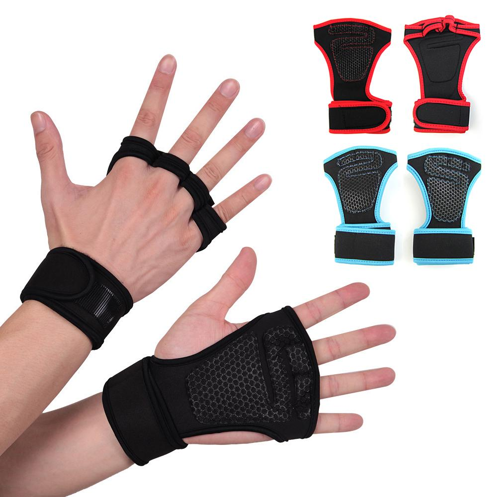 Details about  /GYM WEIGHT LIFTING GLOVES FITNESS Neoprene Wrist Support Straps All Size PAIR