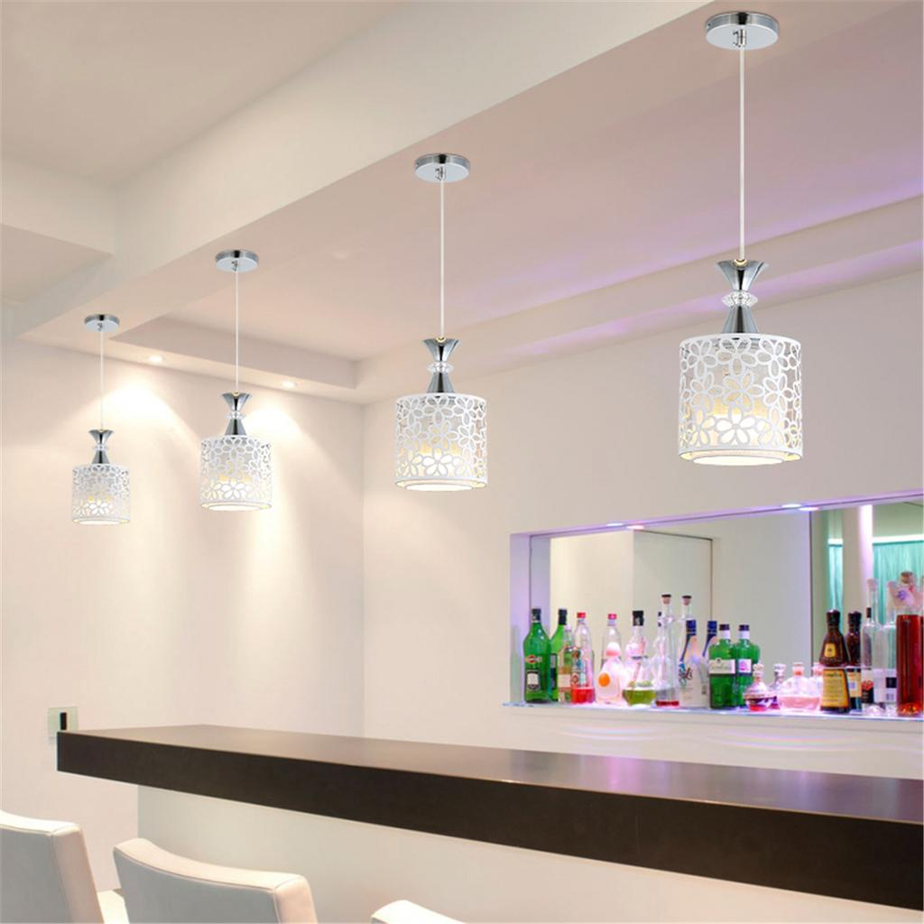 lámpara techo comedor Luces hierro decoración moderna de de colgante de lámpara cristal hCBtsQdrx