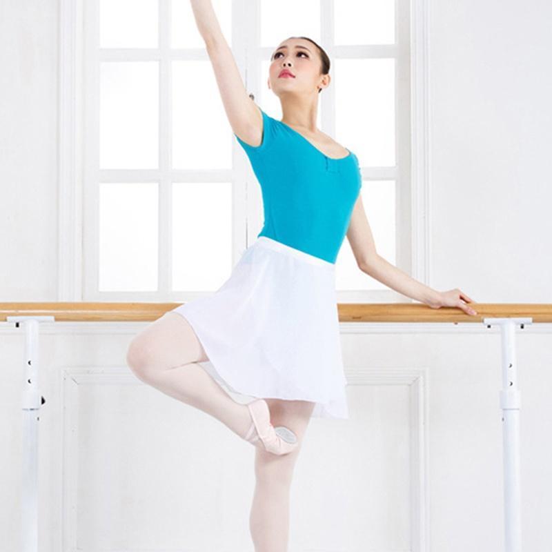 Adult Womens Girls Chiffon Ballet Leotard Tutu Wrap Scarf Skirts Dancewear Dress