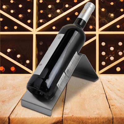 Stainless Steel Wine Rack Single Bottle Holders Display Home Bar Decor 10cm