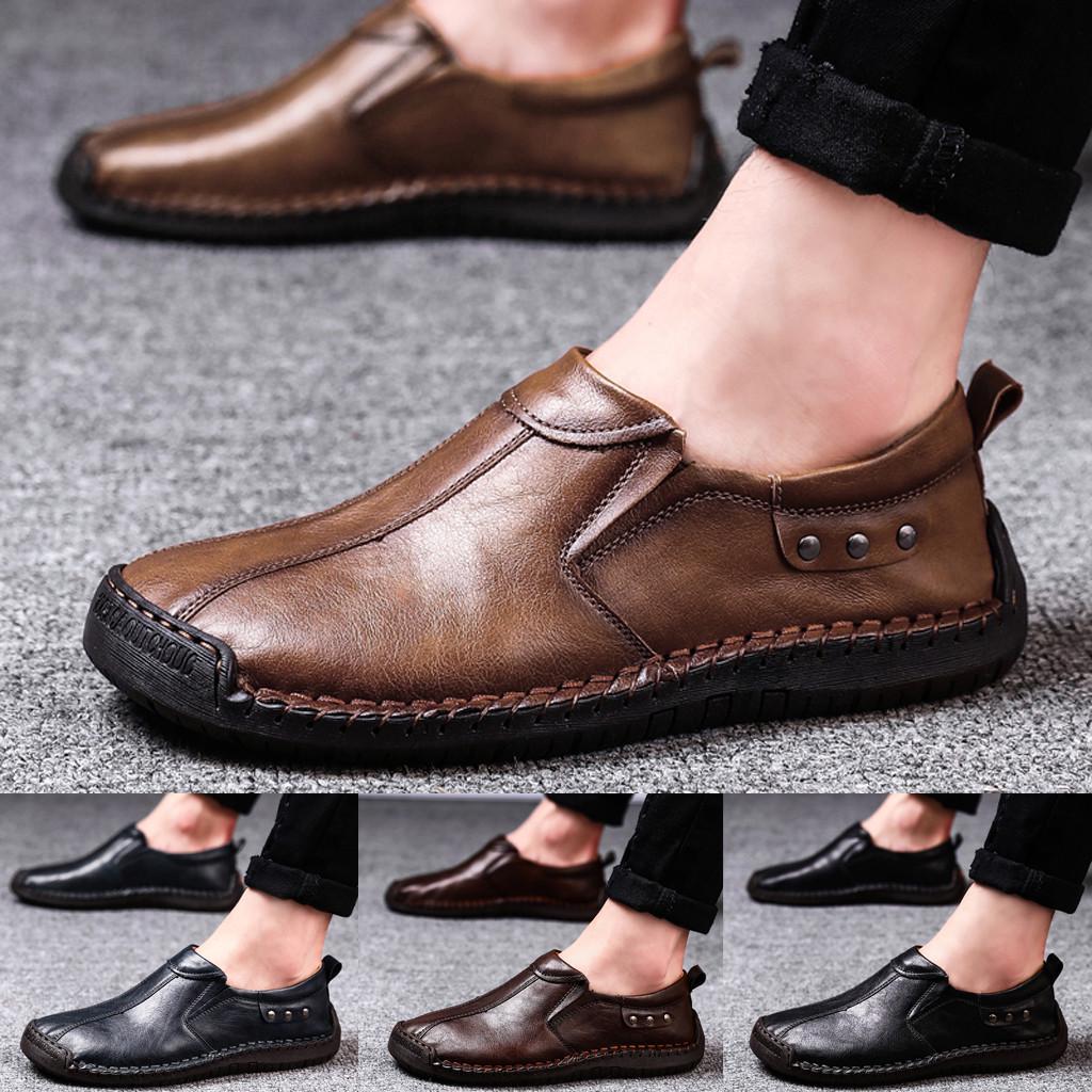 Наружные Мужчины Повседневные обувь Breathable Квартиры Плюс Бархат Досуг Кожаная обувь – купить по низким ценам в интернет-магазине Joom