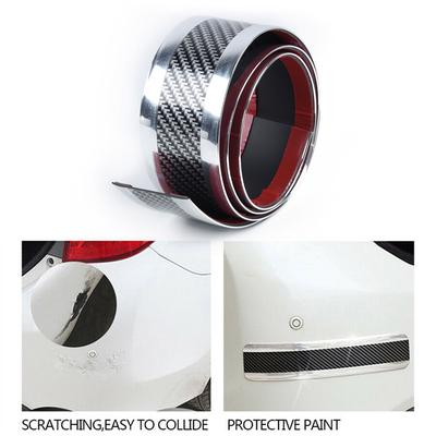 2.5M alféizar de puerta de coche placa de desgaste proteger cuerpo Falda Trim plata de fibra de carbono