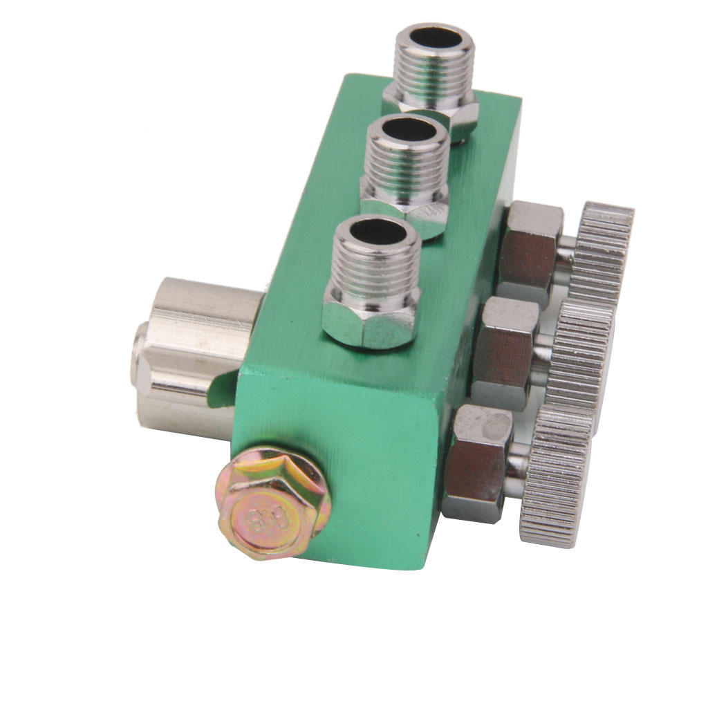 3 Way Airbrush Air Hose Splitter w// Regulated Metering Manifold for Airbrush NEW