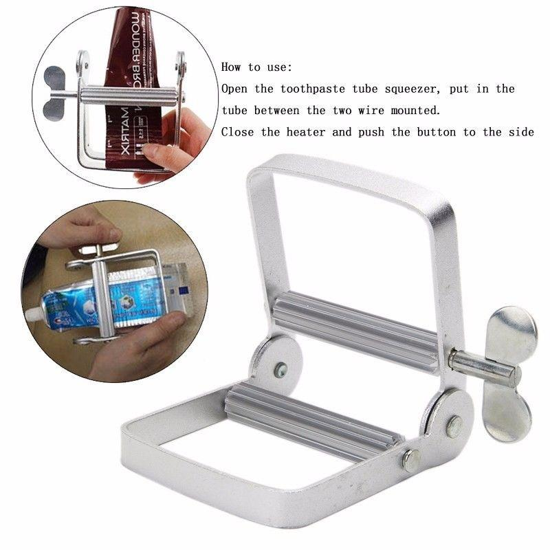 Mini Stainless Steel Toothpaste Squeezer Silver Toothpastes Squeezing Dispenser
