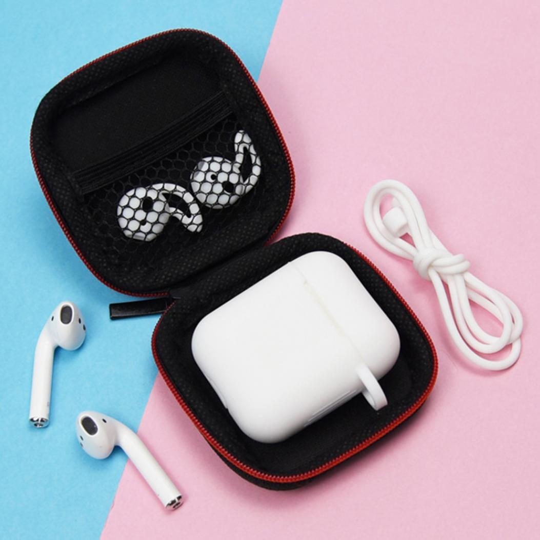 Csae Box для Airpods 7Pcs Портативный SilicGel Bluetooth Наушник хранения мешок фото