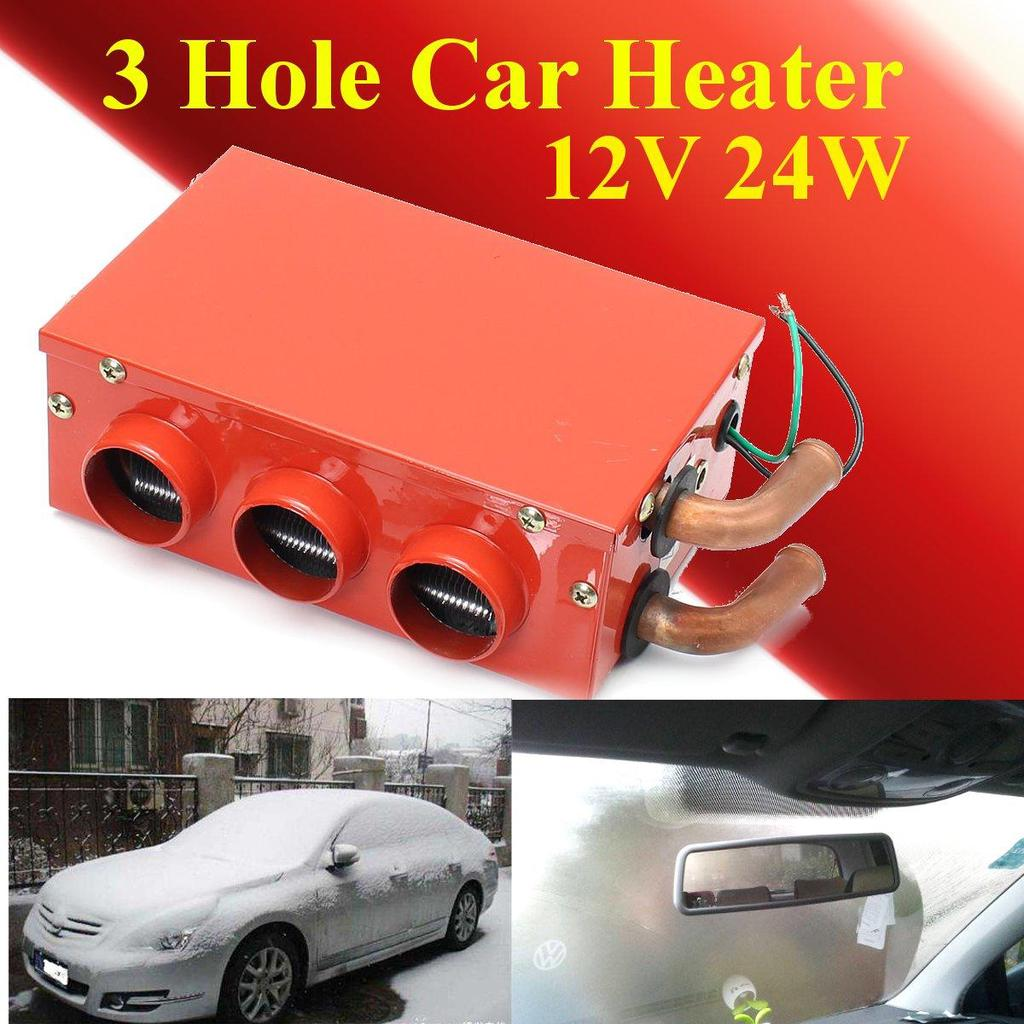 Car & Truck Parts 3 Hole 80w Metal Car Vehicle Heating Cooling Heater Defroster Demister Winter Low Price