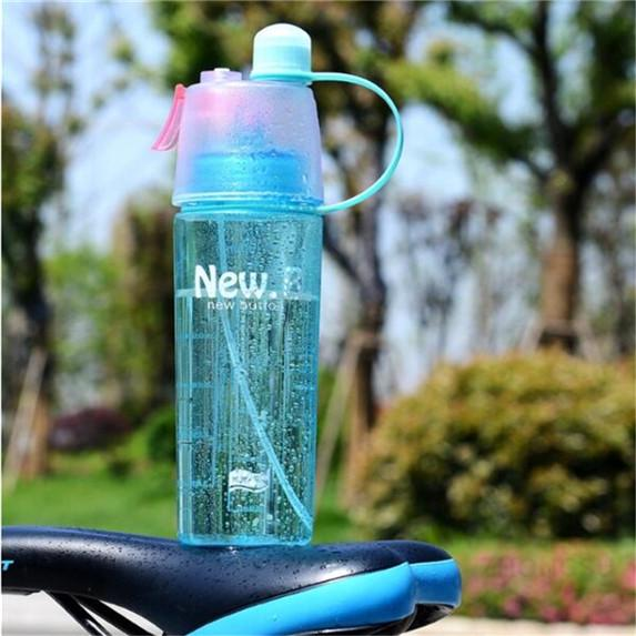 400ML Spray Water Bottle Misting Bottles Leakproof Drinking Cup Bicycle Hiking