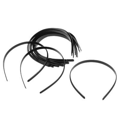 Narrow Alice Band Headband Flexible Hair Head Band Plastic School Silver Bling