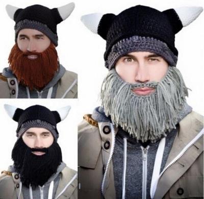 Winter Bart Hut Barbar Looter Stricken Häkeln Beanie Cap Vagabond