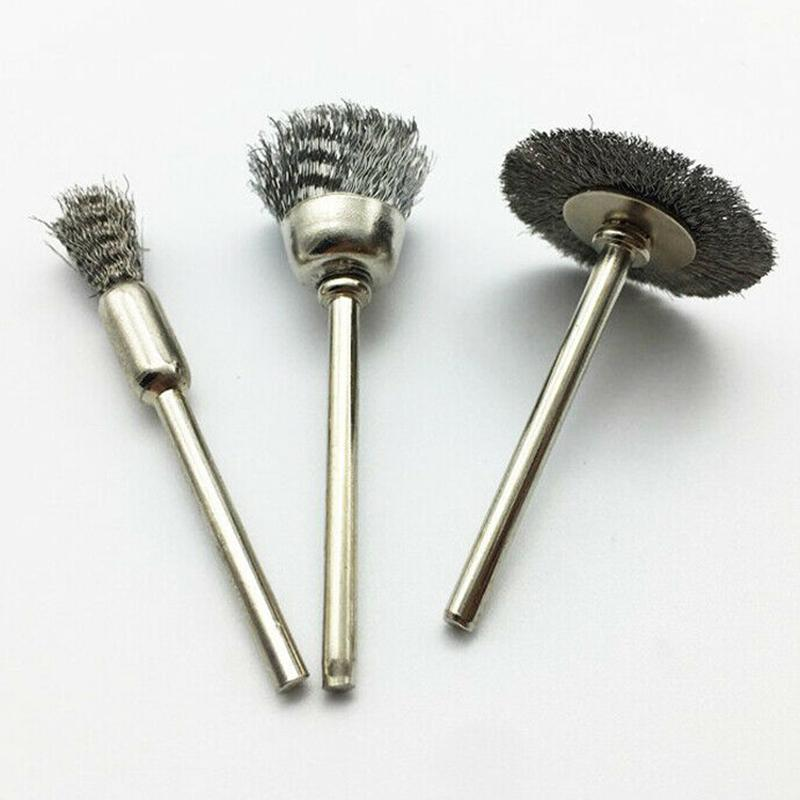 15Pcs New Polishing Wire Brush Pencil Cup Brush Rotary Tool For Drill Rust Weld