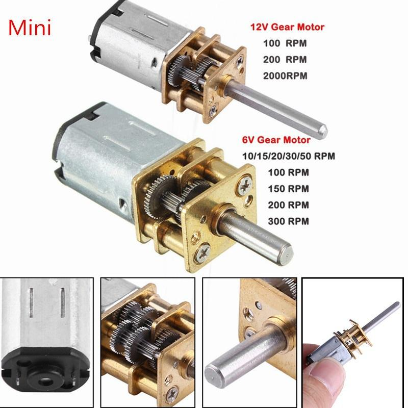 Gear Motor Gear DC Motor New N20 DC12V 300RPM Speed Reduction Motor with Metal Gearbo