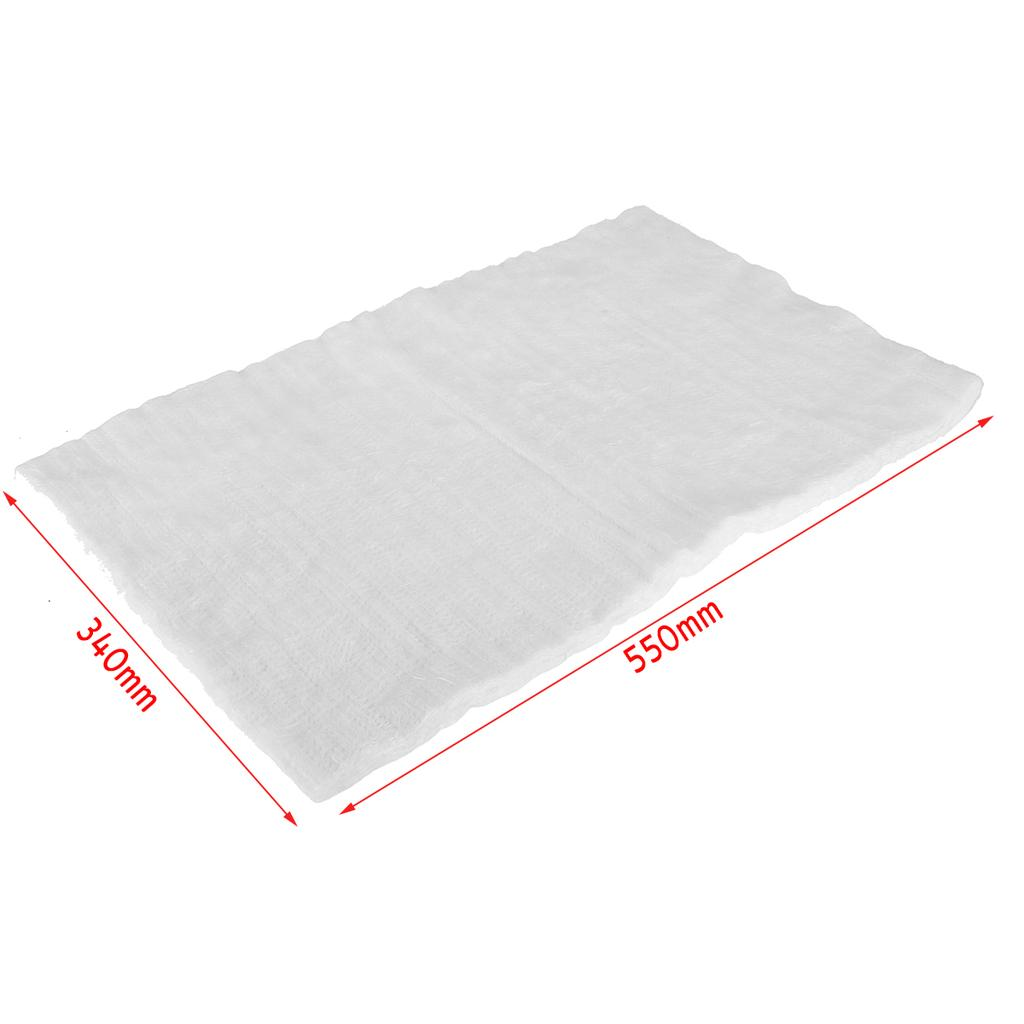Motorcycle Exhaust Can Silencer Wadding E-Glass Fibre Packing Sheet 340x550x10mm