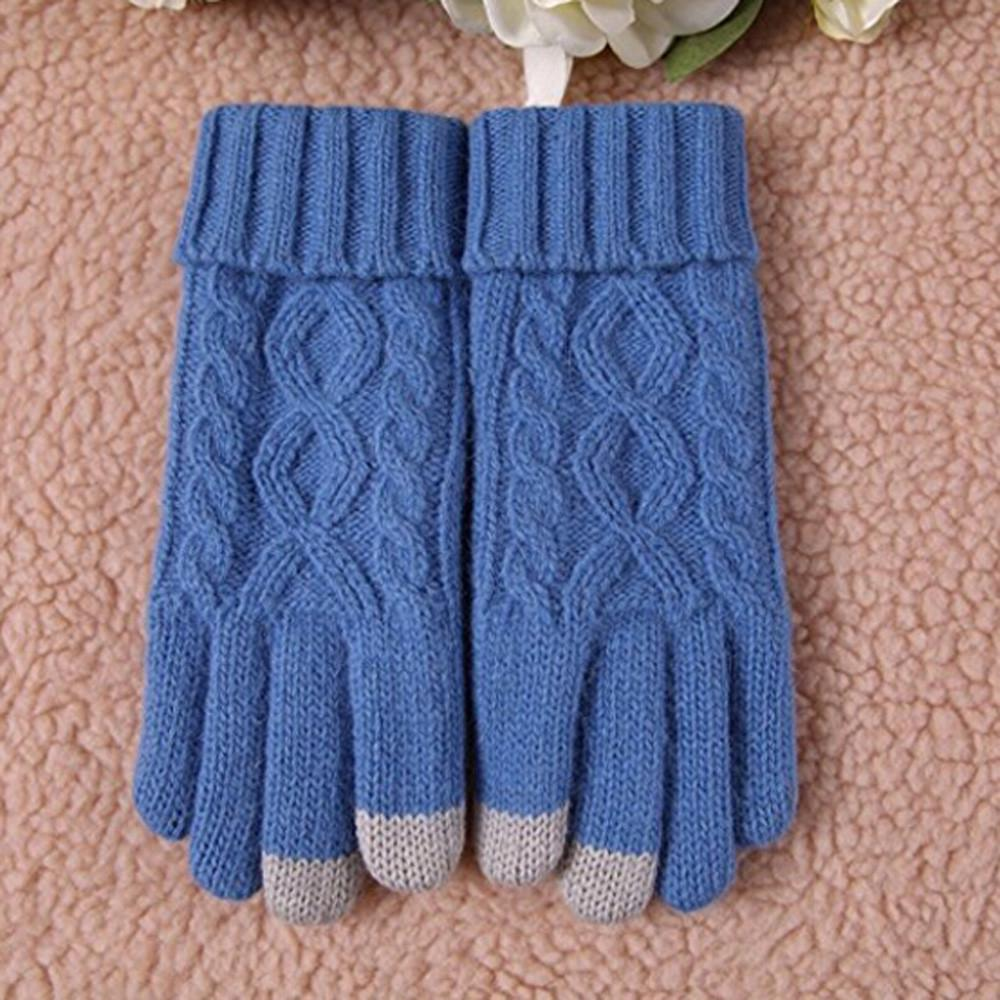 Mujeres invierno cálido acogedor lana de punto grueso paño grueso y ...