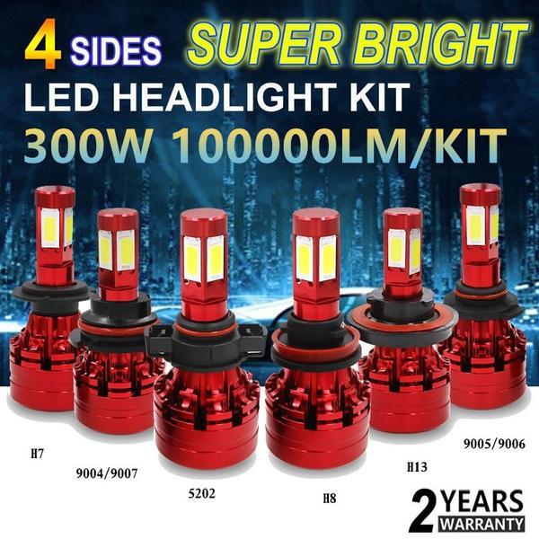 100000LM 300W Super brilhante 4 lados-LED farol Kit branco 9003 HB2 H4 H7  H11 8 9 H13 9004 HB1-comprar a preços baixos na loja virtual Joom 71f226b160
