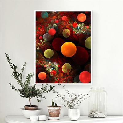 c609225ac0 Pełne Diamentowe Kolorowe Bańki Kształcie Malowanie Salon DIY Okrągłe