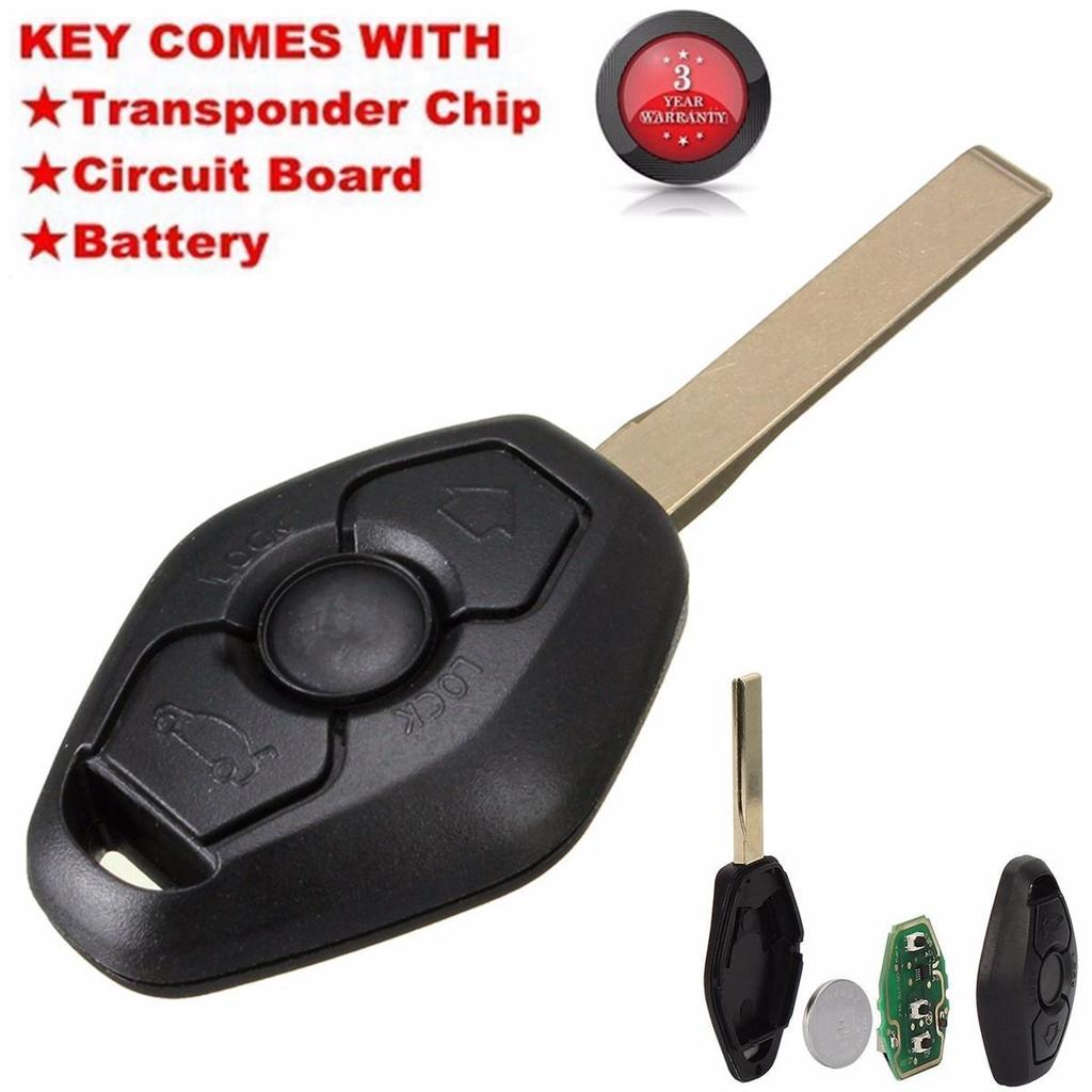 Entry Remote Key Fob Transmitter Clicker W// Uncut Blade 315MHz For BMW E46