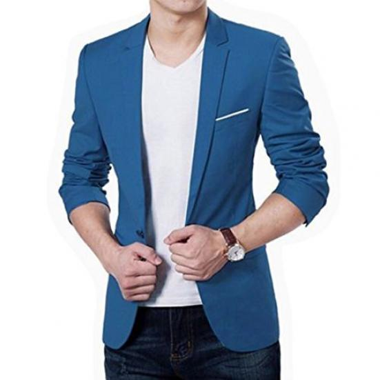 Mens Suit Jacket Blazer Slim Fit Single Breasted One Button Notch Lapel Print Casual Jackets