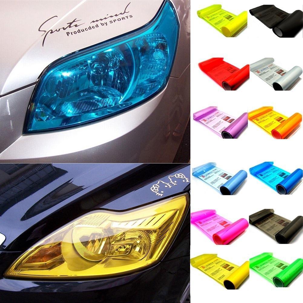 13 Colours Car SUV Headlight Fog Taillight Wrap Tint Vinyl Film Sticker Decal