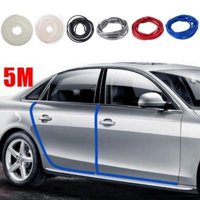 5M Red Auto Moulding Trim Strip Car Door Edge Guard Protector Cover Rubber Roll