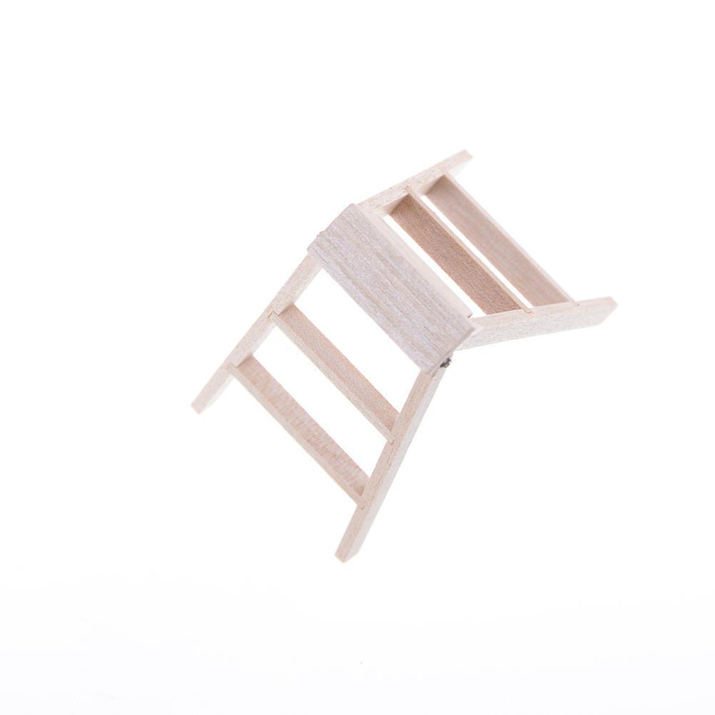 1:12 casa de muñecas miniatura muebles desnudas escalera madera por ...