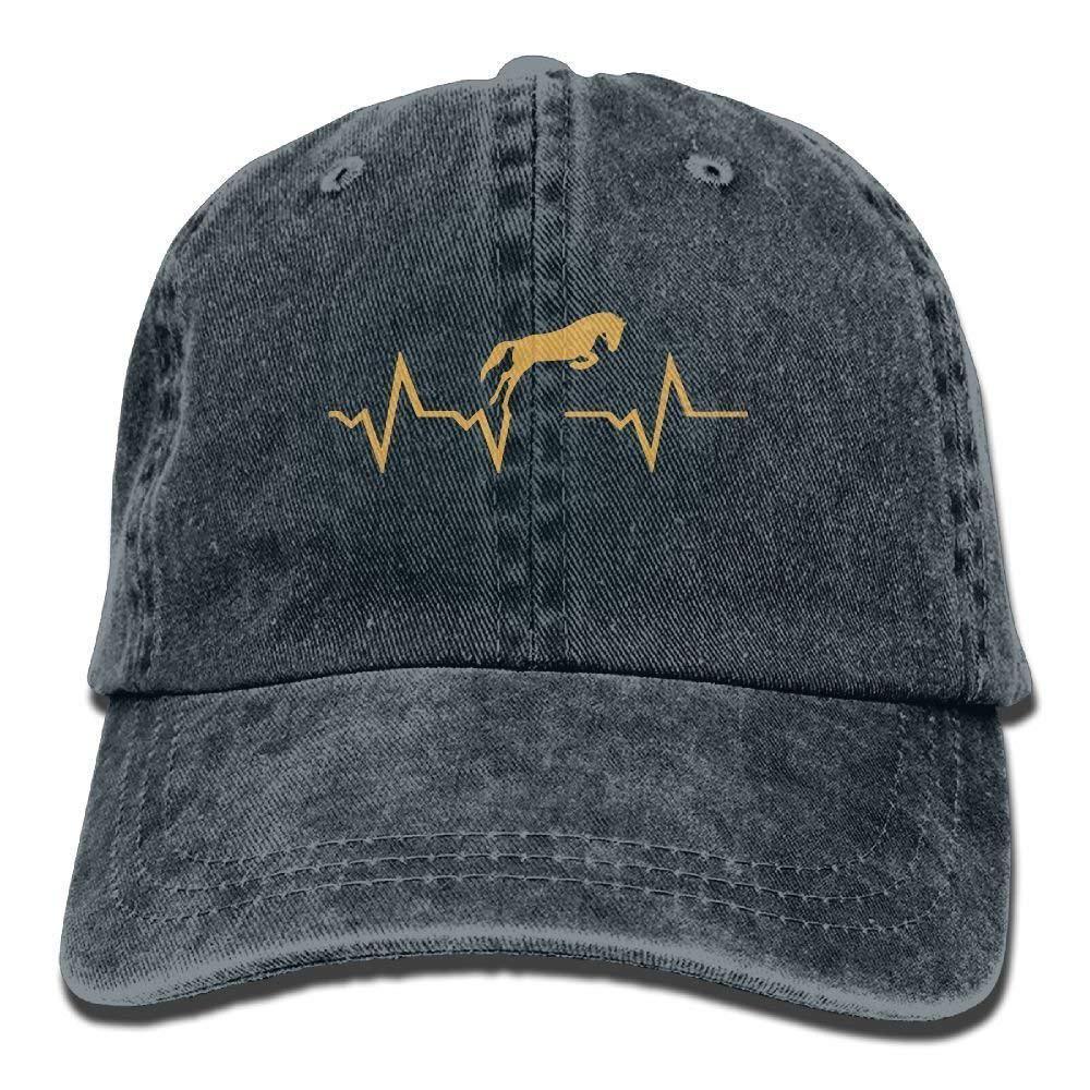 Gorra de béisbol hombres mujeres latido del caballo mezclilla ajustable  gorra de camionero 5343b52bbaf