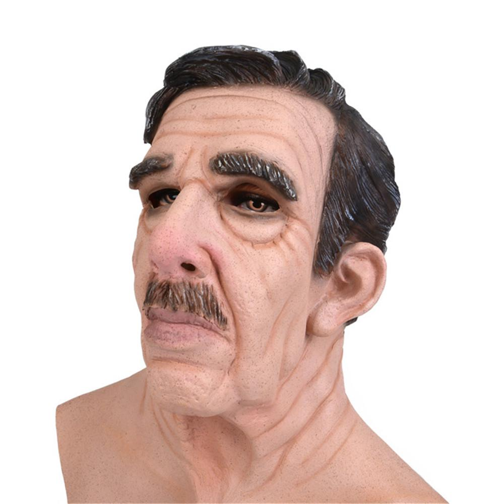 Details about  /Halloween Cosplay Bald Old Man Masks Scary Mask Party Prop Fancy Dress Adults