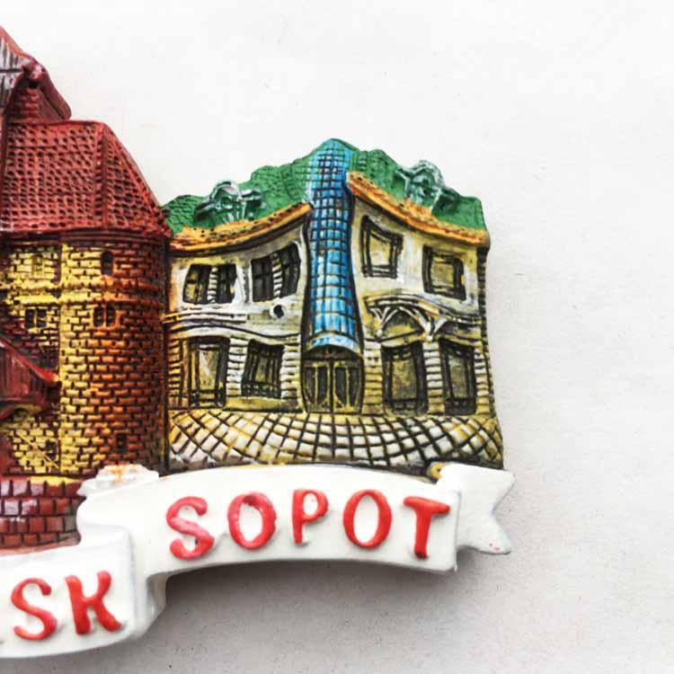 Details about  /Magnet Sticker Refrigerator removable Peel /& Stick Architecture Gdansk Poland