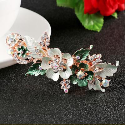 Women  Headwear Accessories  Flower Barrettes  Cute Hairpin  Crystal Hair Clip