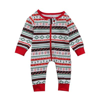 e33f3c604 Newborn Baby Boy Girl Christmas Printed Long Sleeve Romper One Piece ...