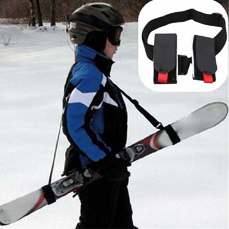 Adjustable Ski snowboard Pole Shoulder Hand Carrier Lash Handle Board Strap  xc