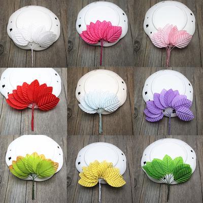 10 Pcs Artificial Scrapbooking Leaves Silk Stocking Flower Decoration