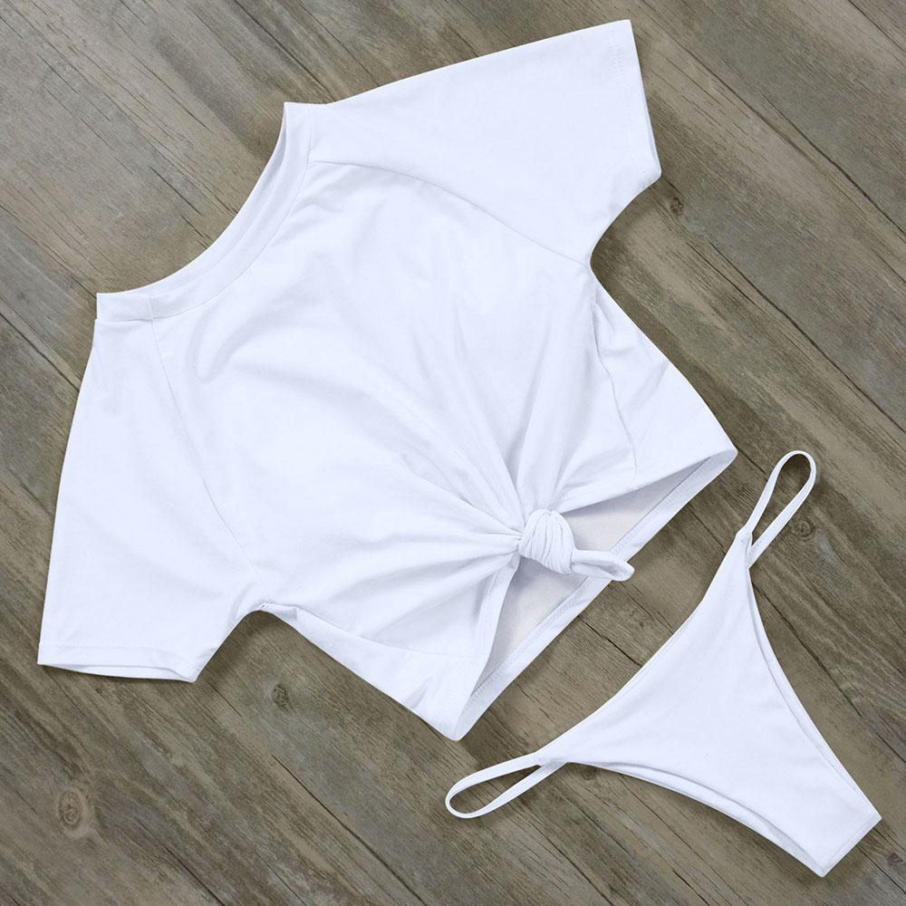 RUUHEE короткий рукав бикини купальники женщин Спорт Купальник сексуальный купальник фото